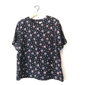 Vintage Casual corner paisley top blouse
